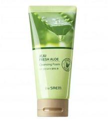 Увлажняющая пенка для умывания с алоэ The Saem Jeju Fresh Aloe Cleansing Foam