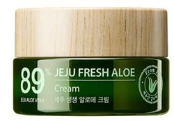Увалажняющий освежающий крем 89% алоэ вера THE SAEM Jeju Fresh Aloe Cream