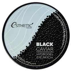 Гидрогелевые патчи для глаз ЧЕРНАЯ ИКРА, ESTHETIC HOUSE, Black Caviar Hydrogel Eye Patch