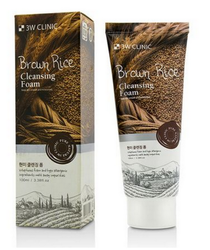 Пенка для умывания натуральная с коричневым рисом 3W Clinic Brown Rice Foam Cleansing