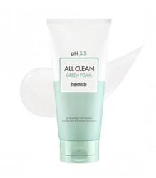 Слабокислотный гель для умывания для чувствительной кожи HEIMISH pH 5.5 All Clean Green Foam 30 мл