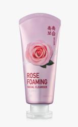 Увлажняющая пенка для умывания с розой IOU rose foaming facial cleancer