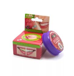 Круглая отбеливающая зубная паста 5 STAR с экстрактом кожуры мангустина