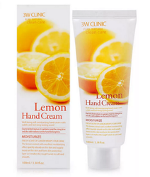 Крем для рук c экстрактом лимона 3W Clinic Moisturizing Lemon Hand Cream