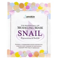 Маска альгинатная с муцином улитки, регенерирующая (Саше) Anskin Snail Pearl Modeling Mask