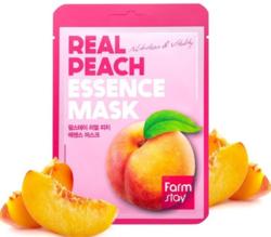 Маска для лица тканевая с экстрактом персика Real Peach Essence Mask FarmStay