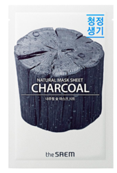 Тканевая маска с углем The Saem Natural Mask Sheet Charcoal