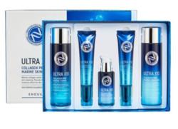 Набор для ухода за кожей лица с коллагеном Enough Ultra X10 Collagen Pro Marine 5 Set