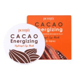 Тонизирующие гидрогелевые патчи с какао Petitfee Cacao Energizing Hydrogel Eye Patch