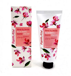 "Крем для рук ""Цветение Вишни"" FarmStay PINK FLOWER BLOOMING Hand Cream CHERRY BLOSSOM"