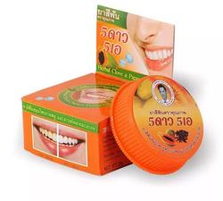 Круглая отбеливающая зубная паста 5 STAR с экстрактом папайи