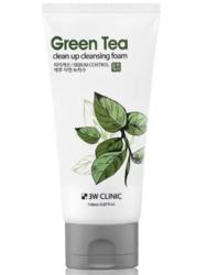 Пенка для умывания с экстрактом зеленого чая 3W Clinic Green Tea Clean Up Cleansing Foam