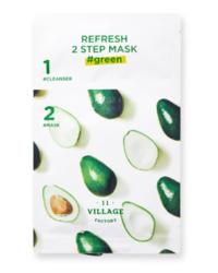Двухступенчатая успокаивающая маска VILLAGE 11 FACTORY Refresh 2 Step Mask Green