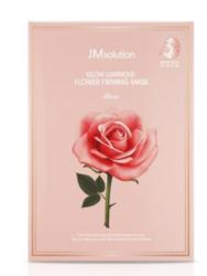 Тканевая маска с экстрактом дамасской розы JM SOLUTION GLOW LUMINOUS FLOWER FIRMING MASK ROSE