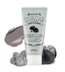Маска очищающая с вулканическим пеплом A'Pieu Fresh Mate Peat Mask (Pore Clearing)