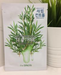 Тканевая маска с чайным деревом  The Saem Natural Mask Sheet Tea Tree