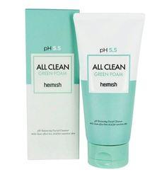 Слабокислотный гель для умывания для чувствительной кожи HEIMISH pH 5.5 All Clean Green Foam