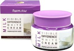 Увлажняющий крем для лица с молочными протеинами Milk Visible Difference White Cream