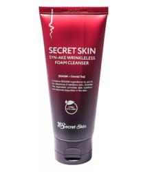 Антивозрастная пенка для умывания со змеиным пептидом Secret Skin Syn-Ake Wrinkleless Foam Cleanser