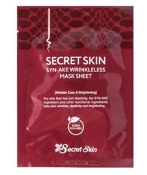 Антивозрастная тканевая маска со змеиным ядом Secret Skin Syn-Ake Wrinkleless Sheet