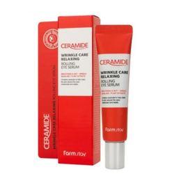 Укрепляющая сыворотка-роллер с керамидами для кожи вокруг глаз FARMSTAY Ceramide Wrinkle Care Relaxing Rolling Eye Serum
