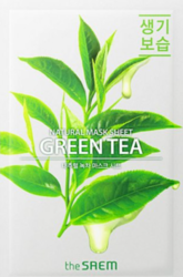 Маска тканевая с экстрактом зеленого чая The Saem Natural Green Tea Mask Sheet