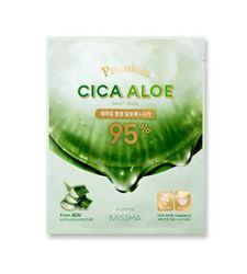 Успокаивающая маска с центеллой и алоэ для лица Missha Premium Cica Aloe Sheet Mask