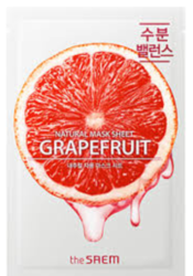 Маска тканевая грейпфрут The Saem Natural Skin Fit Mask Sheet Grapefruit