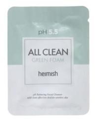 Слабокислотный гель для умывания для чувствительной кожи HEIMISH pH 5.5 All Clean Green Foam пробник