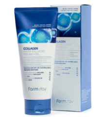 Антивозрастной увлажняющий пилинг-гель с коллагеном FARMSTAY Collagen Water Full Moist Peeling Gel