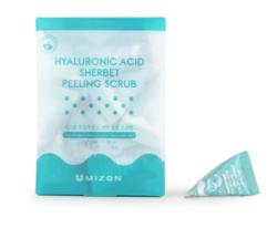 Скраб для лица с гиалуроновой кислотой MIZON Hyaluronic Acid Sherbet Peeling Scrub