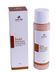 Тонер-крем 2 в 1 c муцином улитки Eyenlip Snail Multi Care Cream & Toner