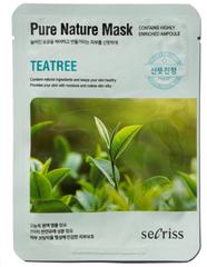 Тканевая маска с экстрактом чайного дерева ANSKIN Secriss Pure Nature Mask Pack-Teatree