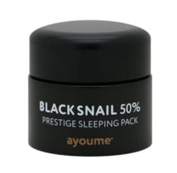 Ayoume ночная маска с муцином черной улитки Black Snail Prestige sleeping pack
