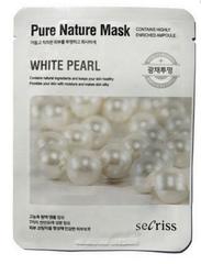 Тканевая маска с экстрактом жемчуга ANSKIN  Secriss Pure Nature Mask Pack- White pearl