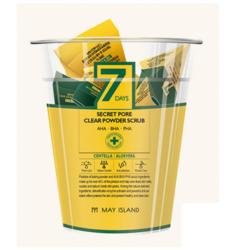 Скраб для очищения пор с центеллой MAY ISLAND 7 Days Secret Pore Clear Powder Scrub