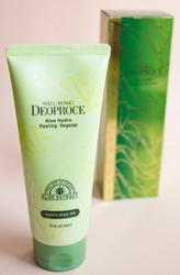Пилинг-скатка для лица с экстрактом алоэ DEOPROCE Well-Being Aloe Hydro Peeling Vegetal