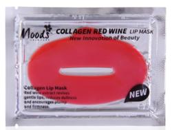 Патчи для губ с красным вином MOODS COLLAGEN RED WINE LIP MASK