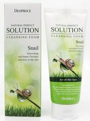 Пенка для умывания с муцином улитки Natural Perfect Solution Cleansing Foam Snail