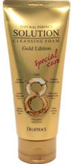 Пенка для умывания с золотом и травами Natural Perfect Solution Cleansing Foam Gold