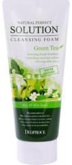 Очищающая пенка c экстрактом зеленого чая Natural Perfect Solution Cleansing Foam Green Tea