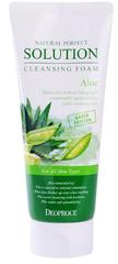 Пенка для умывания с экстрактом Алоэ Natural Perfect Solution Cleansing Foam Aloe