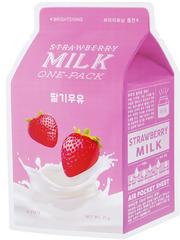 A'PIEU Осветляющая тканевая маска с экстрактом клубники Strawberry Milk One-Pack