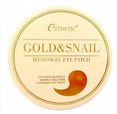 Гидрогелевые патчи для глаз с золотом и муцином улитки Esthetic House Gold Snail Hydrogel Eye Patch