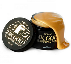 Омолаживающая маска-плёнка для лица с 24к золотом Esthetic House Piolang 24K Gold Wrapping Mask