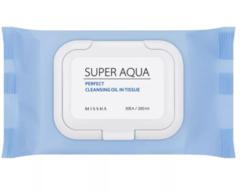 Очищающие салфетки для лица на масляной основе Missha Super Aqua All-in-one Cleansing Oil in Tissue