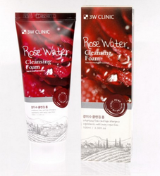 Пенка для умывания 3W Clinic Rose Water Foam Cleansing