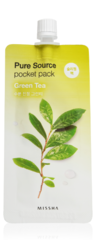 Ночная маска для лица MISSHA Pure Source Pocket Pack (Green Tea)
