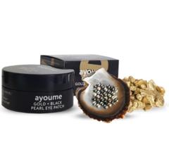 Патчи для глаз с жемчугом AYOUME Gold Black Pearl Eye Patch