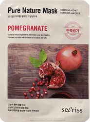 Тканевая маска с экстрактом граната Pure Nature Mask Pack Pomegranate